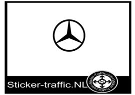 Mercedes logo sticker
