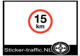 15 km sticker