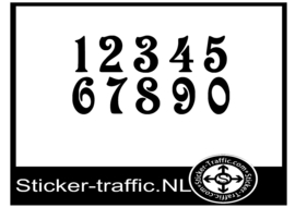 Cross nummers design 5 sticker