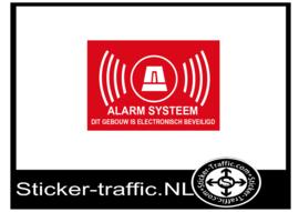 Gebouw is beveiligd met alarm systeem sticker