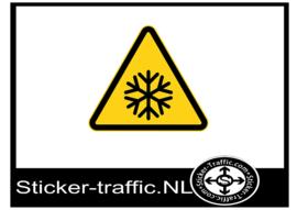 Koud pictogram sticker