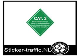Categorie 3 niet voor menselijke consumptie sticker