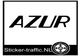 Azur caravan sticker