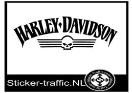 Harley Davidson skull sticker