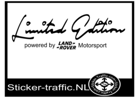 LAND-ROVER Limited Edition Sticker