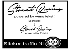 Street Racing auto merk stickers