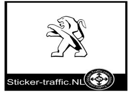Peugeot logo sticker