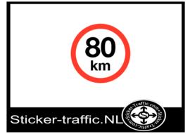 80 km sticker