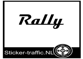 Rally design 2 sticker