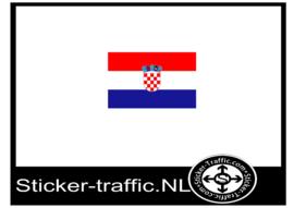Kroatie vlag sticker
