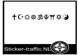 9 belangrijke religie sticker