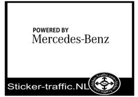 Mercedes powered by  deurpaneel sticker