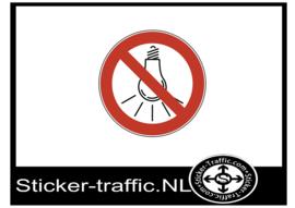 Verboden lichten te branden sticker