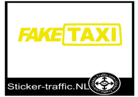Fake taxi sticker