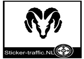Dodge Ram logo sticker