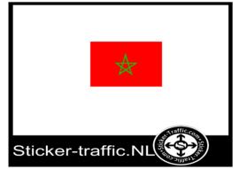 Marokkaanse vlag sticker