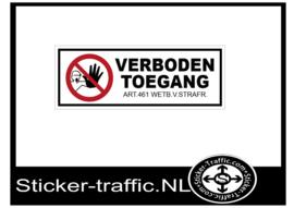 Verboden toegang sticker