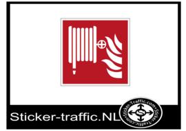 Brandgevaar stickers
