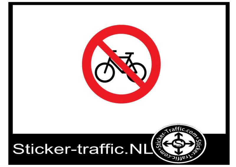 Verboden voor fietsers sticker