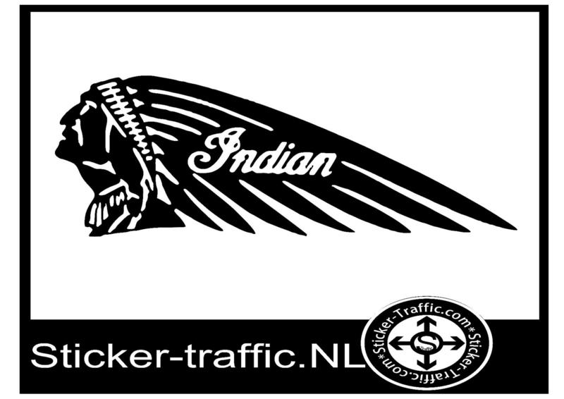Indian motor sticker