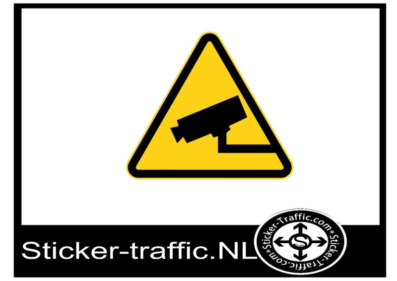 Camera bewaking sticker