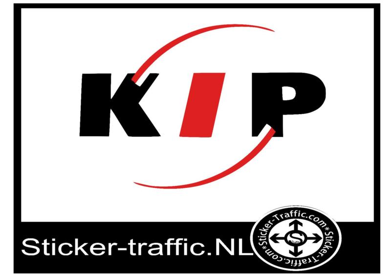 Fullcolour Kip caravan sticker