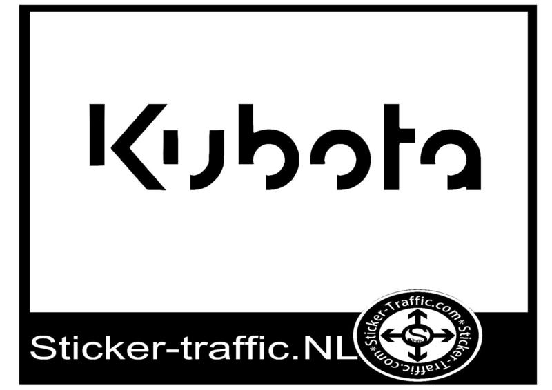 Kubota sticker