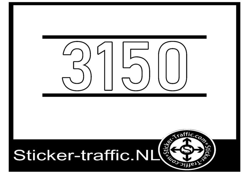 3150 met strepen sticker