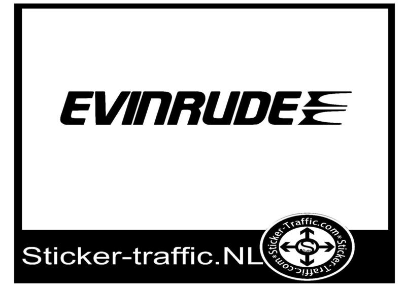 Evinrude sticker