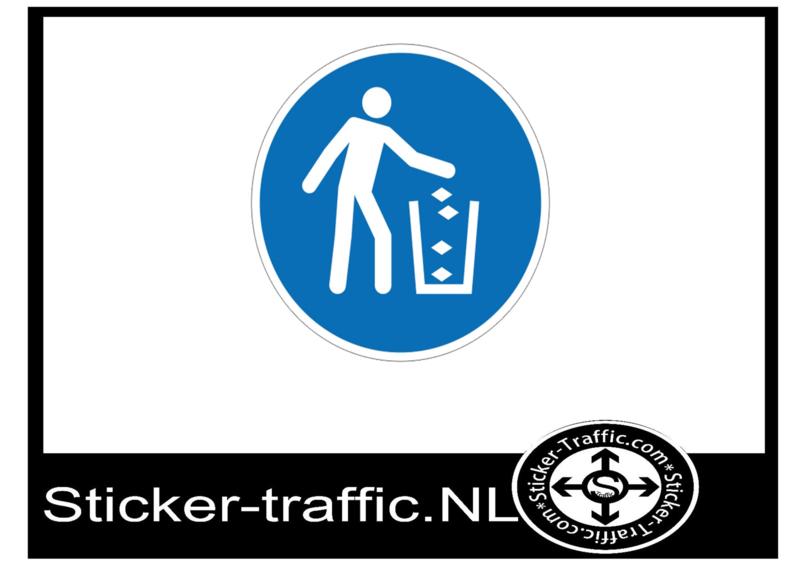Vuilnisbak sticker