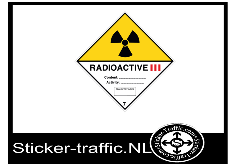 Radioactive categorie 3 sticker