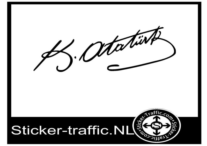 Ataturk imza sticker