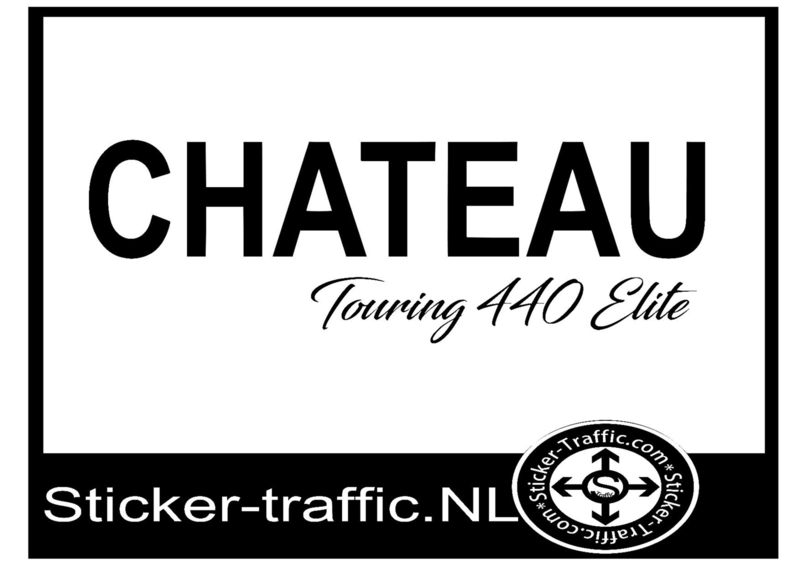 Chateau Touring 440 elite  sticker