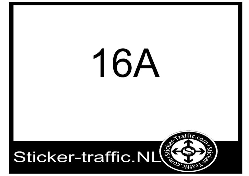 16A sticker 1 cm hoog