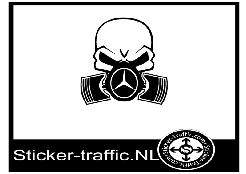 Mercedes skull sticker