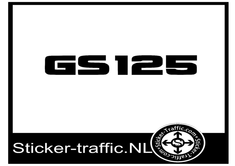 Suzuki GS 125 sticker