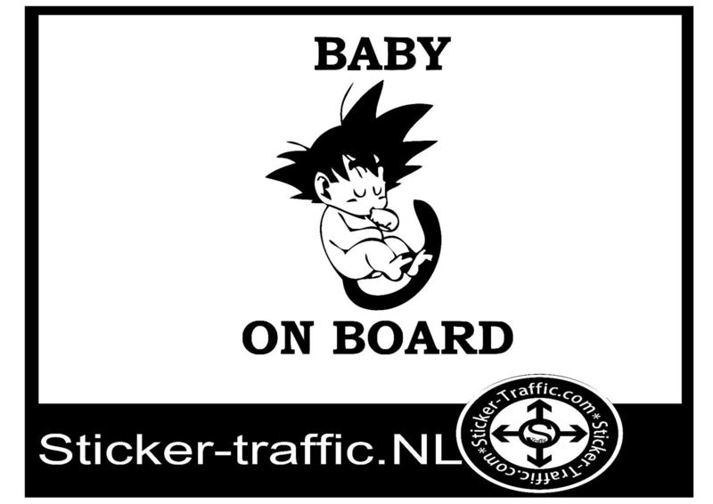Baby on boards design 5 sticker