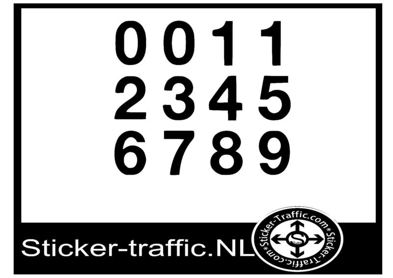 Cross nummers design 3 sticker