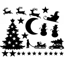 Raamstickers Uitbreidingset Kerst