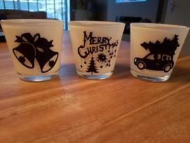 Waxinelichtouders Kerst