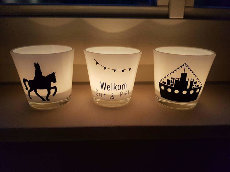 Waxinelichthouders Sinterklaas