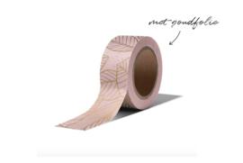 Washi tape | Leaves roze goud
