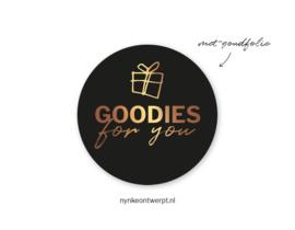 Sticker | Goodies for you | goud | 10 stuks