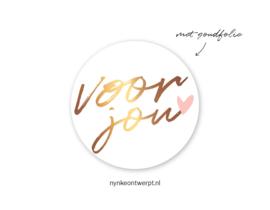 Sticker | Voor jou | 10 stuks