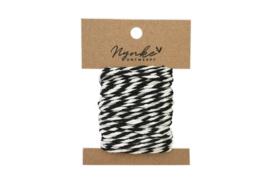 Inpak touw zwart/wit