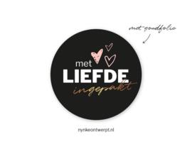 Sticker | Met liefde ingepakt | 10 stuks