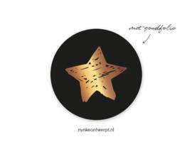 Sticker   Kerst ster   10 stuks