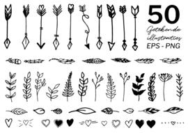 50 Getekende illustraties