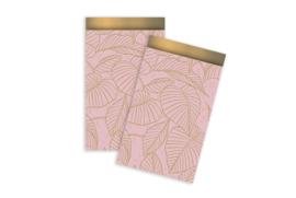 Kadozakjes leaves roze/goud | M | 5 stuks