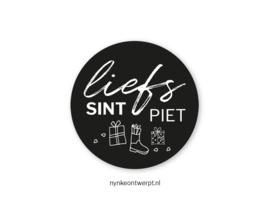 Sticker | Liefs Sint & Piet | 10 stuks